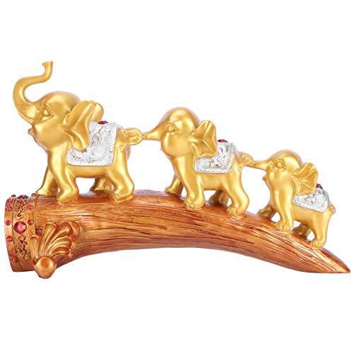 LIUTT Estatuilla de Resina con Adorno de Elefante, Escultura de Estatua de Elefante, Adornos innovadores de Resina sintética, mobiliario de Escritorio Dorado
