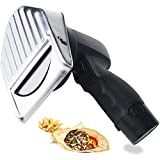 Helikim Cuchillo Cortador de Kebab Turco Profesional, Cortador Cortador eléctrico inalámbrico con 2 Cuchillas, Grosor Ajustable 0-8 mm