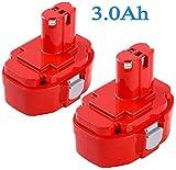 Replacement 1822 Battery for Makita 18V 3000mAh 1823 1833 1834 1835 1835F 194105-7 PA18 192828-1 192829-9 193061-8 193102-0 193140-2 193159-1 193783-0