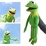 Bambole Rana Peluche Bambola Giocattolo -Muppet Visualizza Kermit la Rana burattini della Mano della Peluche dei Giocattoli del Regalo di Festa di Natale per i Bambini 60CM,Verde