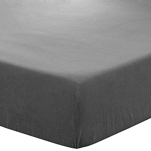 Bare Home Super Soft Fleece Fitted Sheet - Twin Size - Extra Plush Polar Fleece, Pill Resistant - Deep Pocket - All Season Cozy Warmth, Breathable & Hypoallergenic (Twin, Grey)