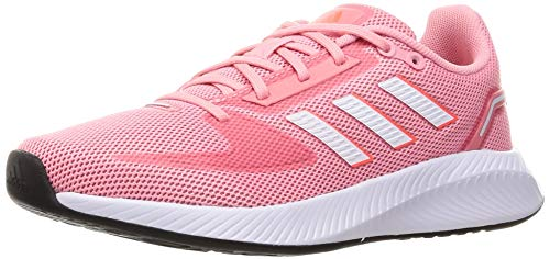 adidas RUNFALCON 2.0, Zapatillas de Running Mujer, SUPPOP/FTWBLA/Rojsol, 40 EU