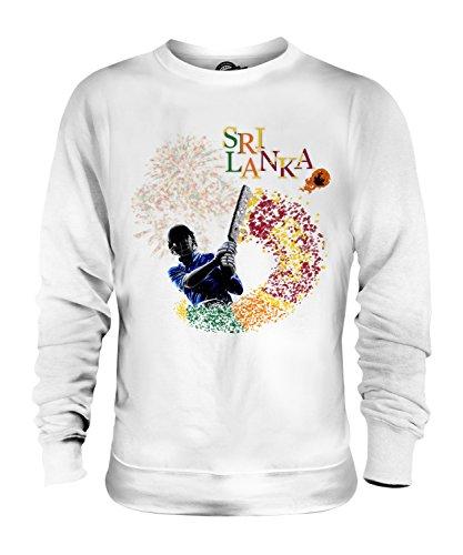 Candymix Sri Lanka Cricket Unisex Herren Damen Sweatshirt, Größe Medium, Farbe Weiß