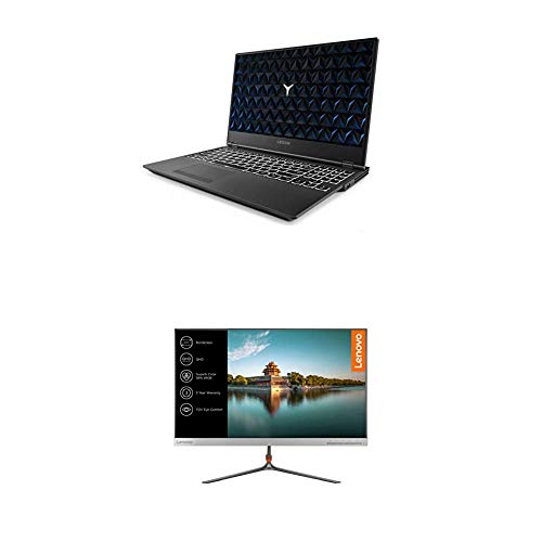 """Lenovo Legion Y530 Ordenador portátil gaming 15.6"""" FullHD (Intel Core i5-8300H, 8GB de RAM, 1TB HDD, Nvidia GTX1050 de 4GB, Windows10) + Monitor Lenovo L24q de 24"""""""