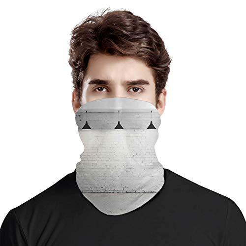 FULIYA Gran cubierta de la cara de la bufanda de la protección del cuello, habitación de hormigón de ladrillo con tres lámparas de techo, diseño minimalista moderno, bufanda de cabeza variada, unisex
