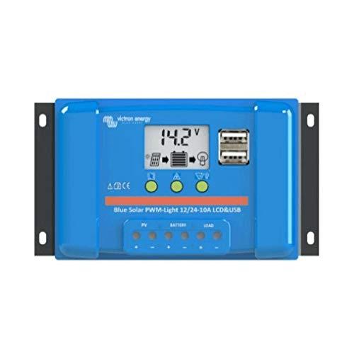 Victron Energy - Regulador solar PWM 10A LCD & USB - 12/24 V