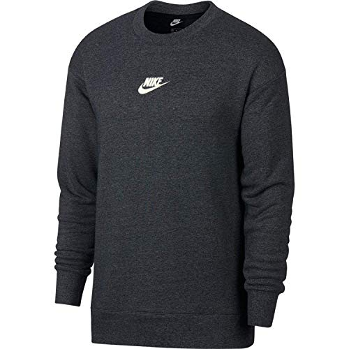 Nike Herren M NSW Heritage CRW Long Sleeved T-Shirt, schwarz (black/heather/Sail), XS
