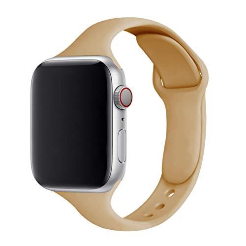 Correa de silicona delgada para Apple Watch Band 40mm 38mm 4mm Soft Wrsit Correa Correa pulsera para IWatch Series SE Watchband 44mm