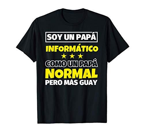 Hombre Informático Papá Regalo Camiseta