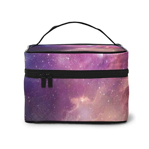 Galaxy Travel Cosmetic Case Organizer Portable Artist Storage Bag, Multifunction Case Toiletry Bags for Women