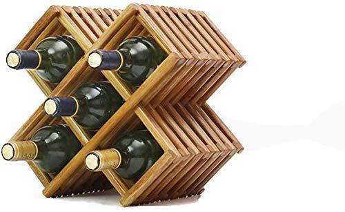 Pkfinrd Wijnglas Houder Kamer Huis Meubels Af en toe Sipper Wijn Kenners Compacte vorm Modern Design Plank Grote Geschenkrek Hout Gift (Maat: 2 flessen)