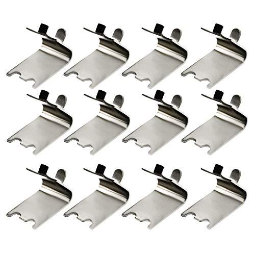RENSHENKTO Pinzas de soporte de estante de acero inoxidable para gabinete de 50 piezas