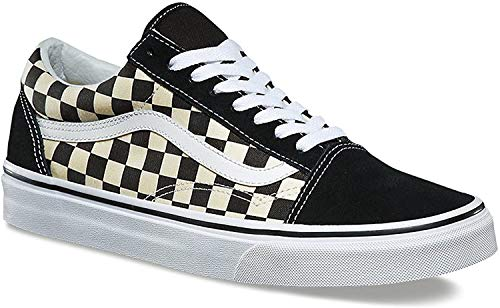 Vans Old Skool Checkerboard Sportlich, Blk White, 41 EU