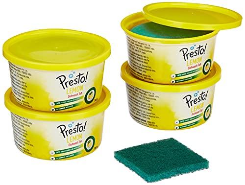 Amazon Brand – Presto! Dishwash Tub – 700 g (Pack of 4)