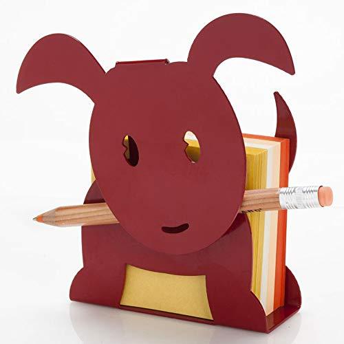 Artori Design Metal Memo Notes Holder For Desk - Office Decor - Dog Shaped Office Supplies Dispenser - School Gift for Dog Lovers