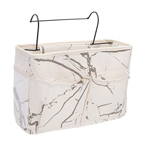 Cabilock Sängbord Caddy Organizer hängande förvaringsväska hållare med stora fickor för sänggavel skenor sovsalar våningssängar lägenheter badrum