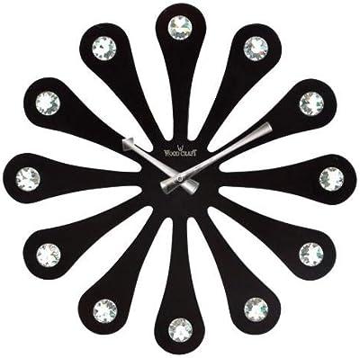 Wood craft Modern Clock (40.5 c m x 40.5 c m) W-1212.