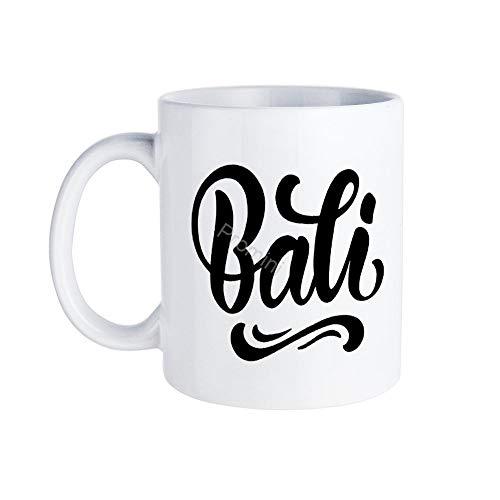 Promini Keramik Neuheit Becher,Bj-676 Bali Dekorative Tassen, Kaffeetasse, Lustige Kaffeetasse, Beste Geschenk FüR Familie/Freund, Einzigartiges Geburtstagsgeschenk, 15oz WeißE Tasse
