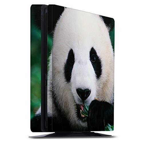 DeinDesign Skin kompatibel mit Sony Playstation 4 PS4 Slim Folie Sticker Panda Bär Bambus