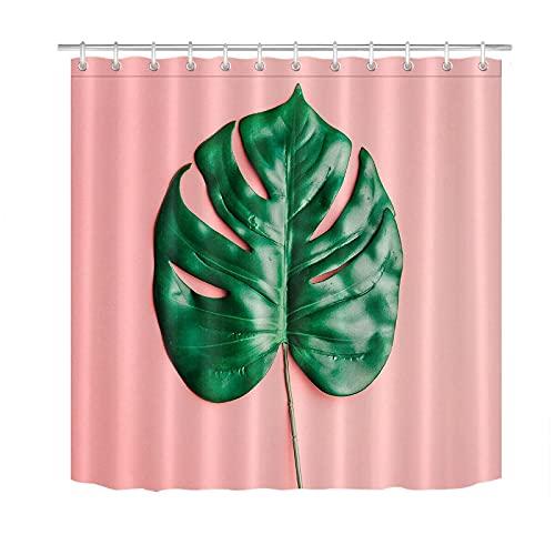 XXzhang Duschvorhang Tropical Palm Leaf Close-up Badezimmer Polyestergewebe DUSCHVORHANG Liner Haken Duschvorhänge Schimmelwiderstandsfähig Waschbar