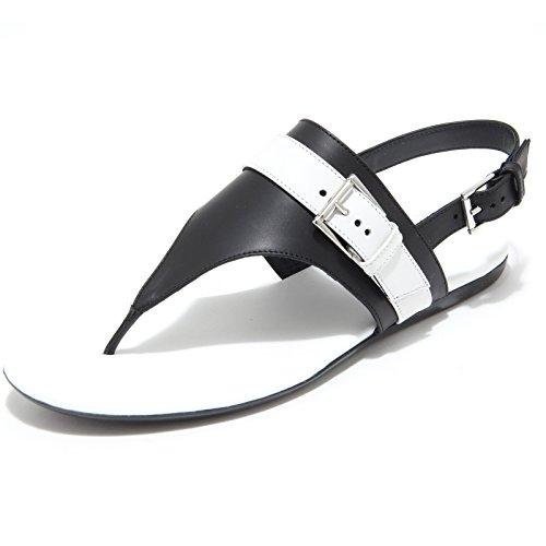 Hogan 7964I Infradito Donna Nero Valencia Scarpe Shoes Flips-Flops Shoes Women [36.5]