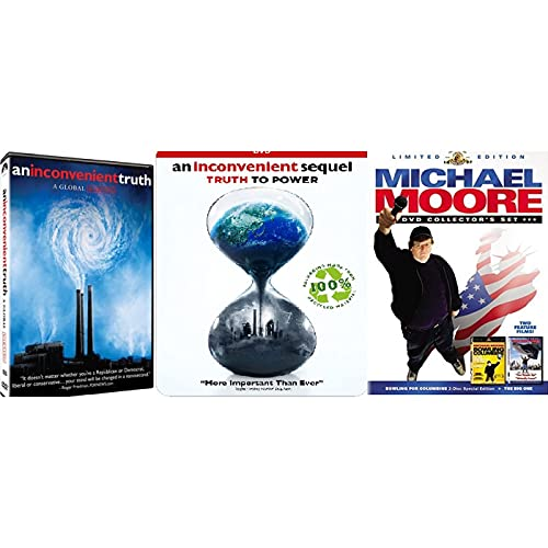 Inconvenient Truth 2 Pack (Original and Sequal: Truth To Power + Michael Moore 2 Pack (Bowling for Columbine / The Big One) Global Warming / Gun Control Films - Al Gore, Billy West, Marilyn Manson