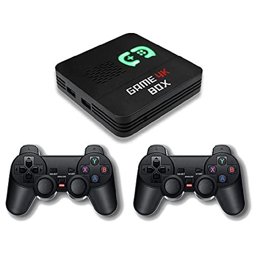 SOBW Consola de videojuegos retro con más de 6700 videoconsolas clásicas integradas para salida 4K TV HDMI, compatible con NES/N64/PS1/PSP, WLAN/LAN