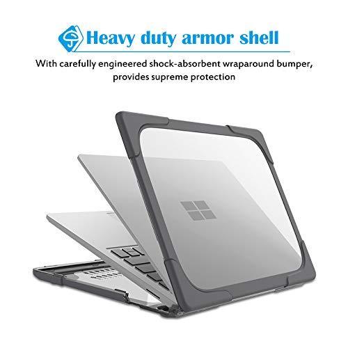 ProCase Hülle Abdeckung NUR für Microsoft Surface Laptop 3 (15 Zoll),Schutzhülle Hartschalle Case, Heavy Duty Cover Only for 15 Zoll Surface Laptop 3rd Gen –Grau