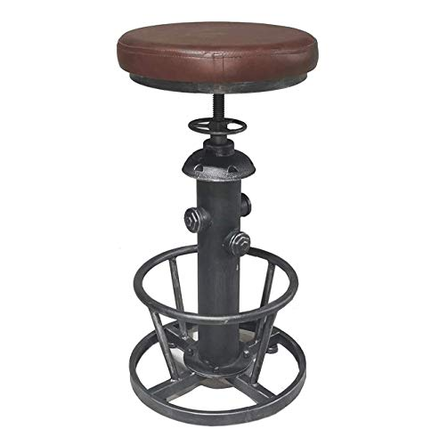 Topower Vintage Stylish Water Pipe Design Pub Kitchen Bar Stool