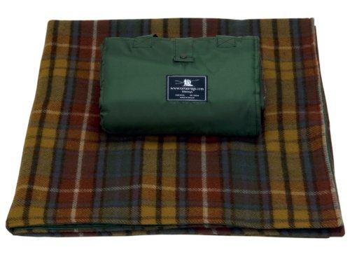 Antique Buchanan Tartan / Schottenmuster Wasserdicht Woll Picknickdecke