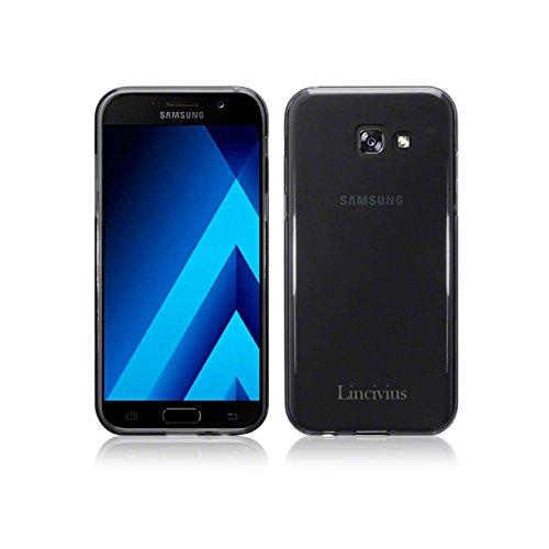 Lincivius Cover Samsung A3 2017, Cover Samsung Galaxy A3 2017 Custodia di Gel in Silicone TPU Case Coppertura Prottetiva Modello Fashion Design Grigio