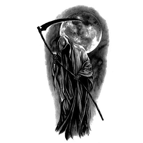 EROSPA® Tattoo-Bogen temporär/Sticker - Sensenmann Gevatter Tod Schnitter Grim Reaper - Wasserfest