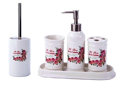 GMMH Landhaus Vintage-Juego de Accesorios para baño (dispensador de jabón, escobilla de...