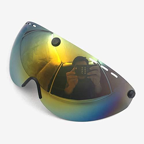 KANG-FANG, KF-Visor, Casco Occhiali Casco Ciclismo Lens Aero del Casco Bici del TT del Triathlon di Ciclismo su Strada Casco Len Time Trial Occhiali Accessori Fit for Cairbull (Colore : Multicolor)