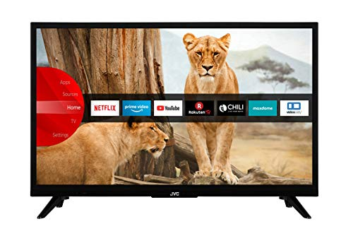 JVC LT-24VH5965 60 cm / 24 Zoll Fernseher (Smart TV inkl. Prime Video / Netflix / YouTube, HD-Ready, Bluetooth, Triple-Tuner)