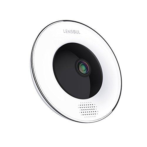 Cámara de vigilancia para el hogar Lensoul 1536P HD IP WiFi Cámara de SeguridadCámara de Vigilancia Panorámica de 360 Grados Deteccion de Movimiento con Visión Nocturna de Infrarrojos 2 Way Audio