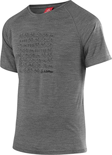 LÖFFLER Bicycles T-Shirt - Grey/Melange