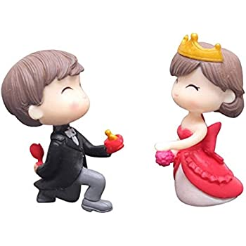 P S Retail Sweety Lovers Couple Figurines Miniatures Style 6(2 Pcs Set)
