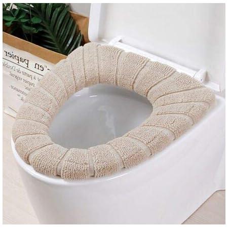 Bathroom Toilet Seat Warmer Cover Soft Mat Washable Cushion Closestool Pads H8X5