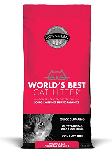 World's Best Cat Litter, Clumping Litter Formula for Multiple...