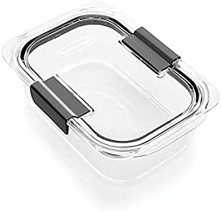 Rubbermaid Brilliance Food Storage Container, Medium, 3.2 Cup, Clear, 2-Pack (2025333)