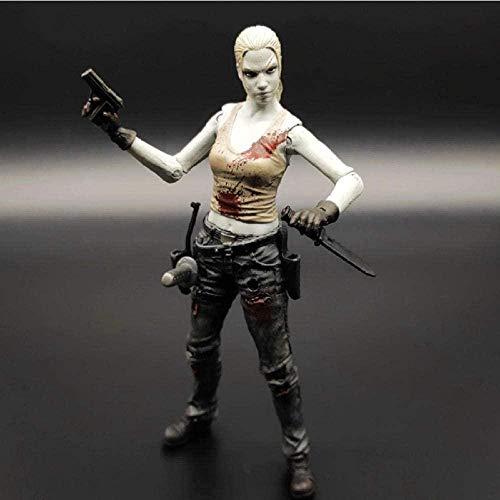 Cabilock Estatua Modelo Animefilm Us Drama The Walking Dead Andrea PVC Modelo de Juguete colección de Figuras de acción Regalo 15Cm