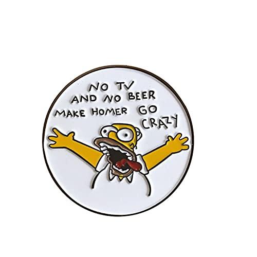 GBINUJI Broche Funny Animation Sitcom La Familia Pegamento de caída de Aceite Brooch Mochila Ropa Pin Collar Pin, Insignia del zoológico (Metal Color : 4)