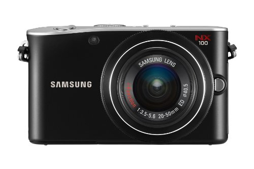 Samsung NX100 Systemkamera (14,6 Megapixel, 7,6 cm (3 Zoll) Display, HD Video, Bildstabilisation) inkl. 20-50 mm i-Function Objektiv schwarz