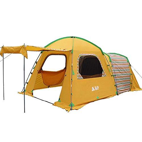 JOMSK Portátil Persona 3-4 Beach Shade Plegable Dom Refugio Tamaño de la Familia de toldo Impermeable portátil Carpa Familiar (Color : Yellow, Size : One Size)