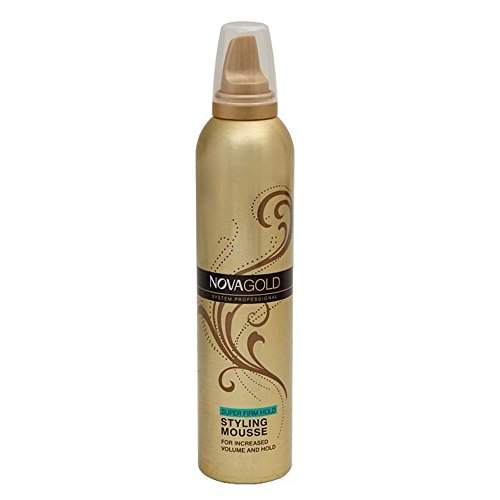 NOVA Gold Hair Styling Mousse 300ml - Super Firm Hold