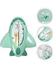 Tomaibaby Termómetro de Agua de Dibujos Animados en Forma de Avión Termómetro de Baño Ducha de Juguete para Bebés Niños Bebé Verde