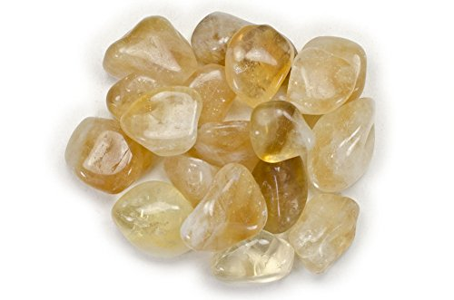 Hypnotic Gems Materials: 1/2 lb Citrine Tumbled Stones AA Grade from Brazil - Bulk Natural Polished Gemstone Supplies for Wicca, Reiki, and Energy Crystal HealingWholesale Lot