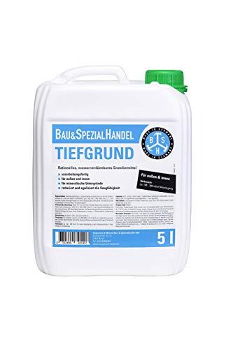 BSH® Universal-Tiefgrund, Made in Germany, Tiefengrund für außen und innen, Premium-Qualität, lösemittelfrei und wasserverdünnbar, 5 Liter