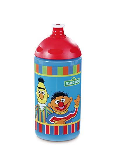 NICI 42958 Trinkflasche Erni und Bert, 19,5 cm, bunt, Füllvolumen 500 ml